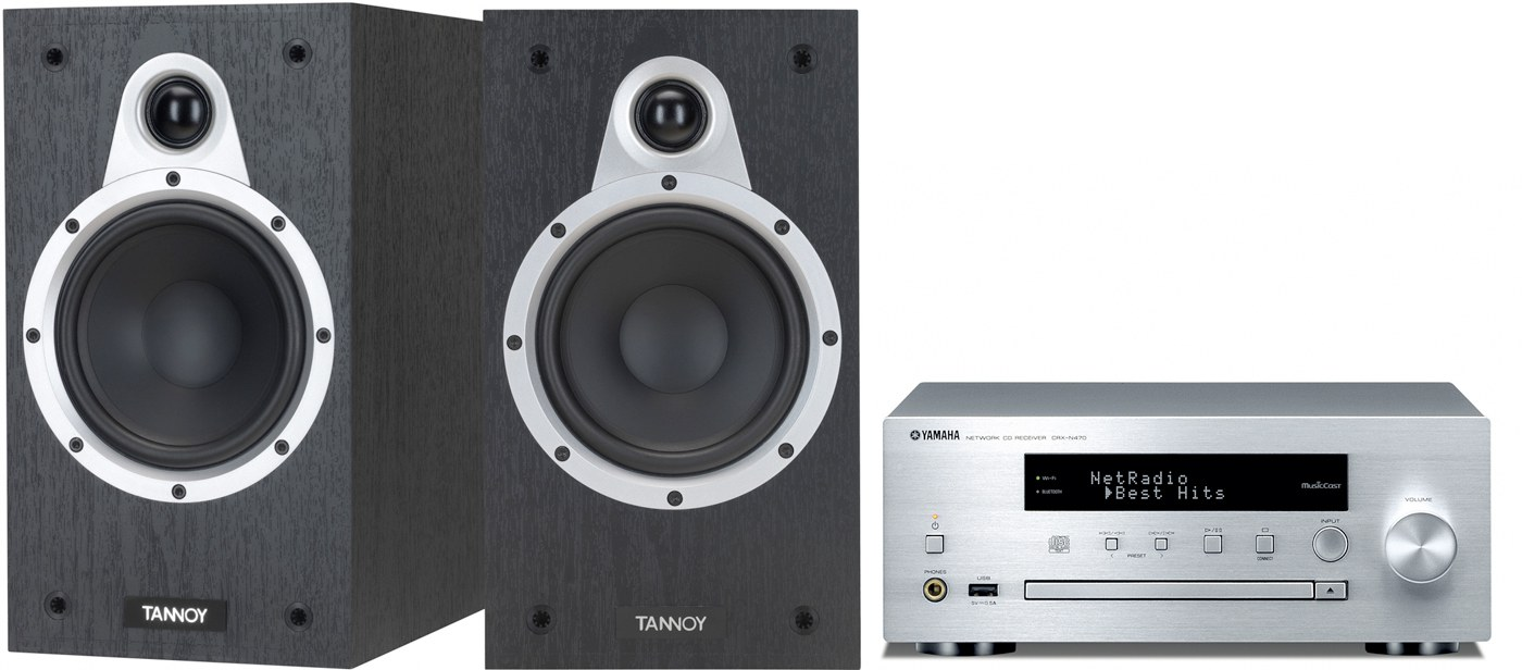 Yamaha CRX-N470D + Tannoy Eclipse One